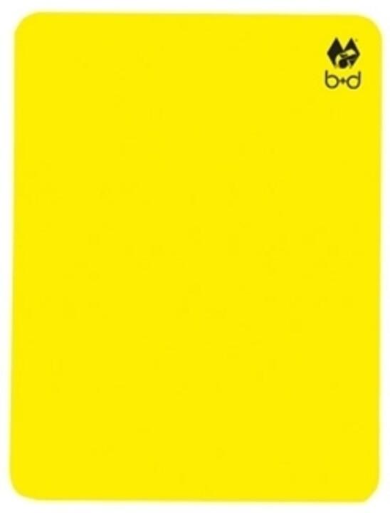 gelbe karte B&D Gelbe Karte Groß EINZELN   Der HandballBÄR Online Shop